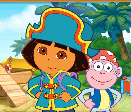 Dora the Explorer treasure hunt